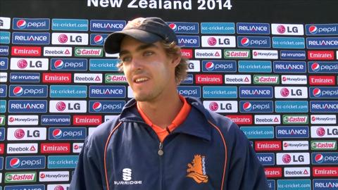 Netherlands ' Michael Rippon elated