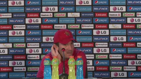M3: Zimbabwe's Brendan Taylor speaks at a press conference