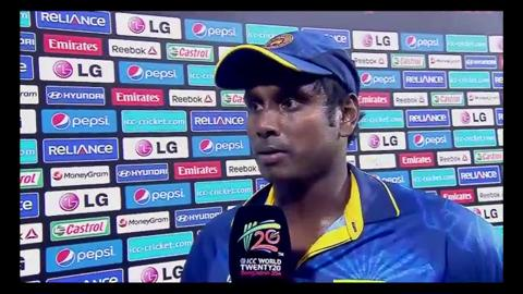 Final: Ind v SL - Interview - Angelo Mathews