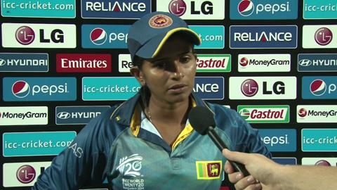 Women's World Twenty20- 7th place playoff Sri Lanka's Shashikala Siriwardene interview
