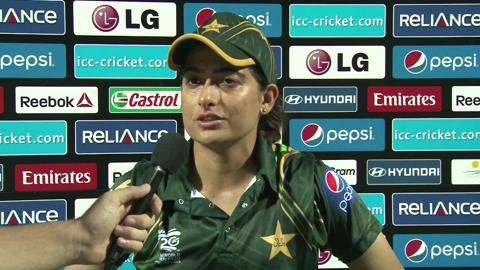 Women's World Twenty20-7th place playoff Pakistan's Sana Mir interview