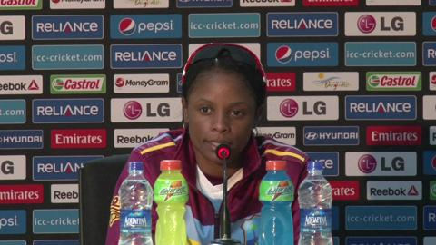 Women's World Twenty20 M12 West Indies' Merissa Aguilleira PC