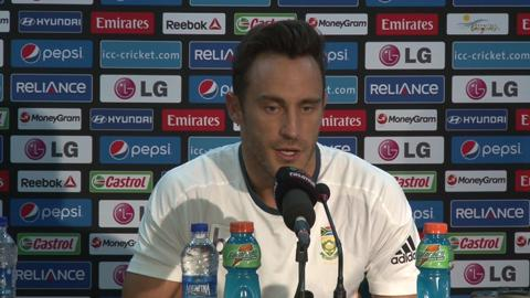 SF2: South Africa's Faf du Plessis pre-match PC
