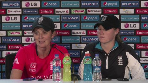 Women's World Twenty20 M8: England's Charlotte Edwards and Anya Shrubsole PC