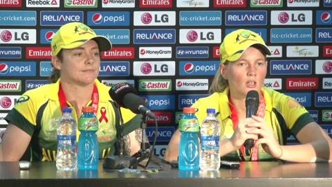 Final: Australia women's captain Meg Lanning and Sarah Coyte PC