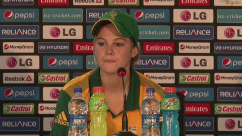 Women's World Twenty20- M2- SA's Dane van Niekerk PC
