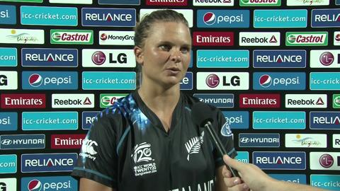 Women's World Twenty20 Playoff 1 New Zealand's Suzie Bates interview