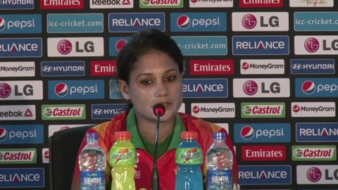 Women's World Twenty20 M11 Bangladesh's Jahanara Alam PC-Part 1
