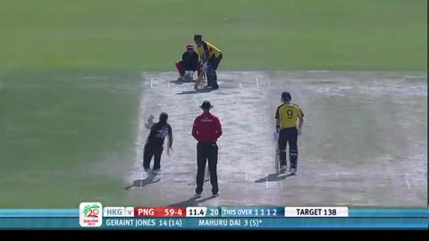 PNG innings highlights v Hong Kong, ICC WT20Q 2013