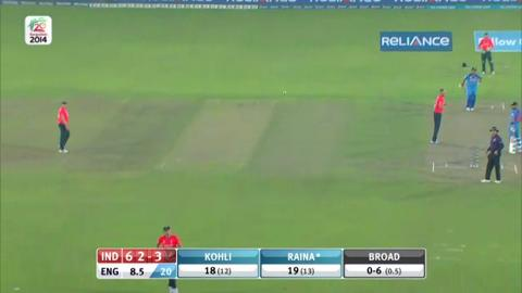 Warm-up: IND v ENG - Suresh Raina Innings