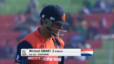 M7: ZIM v NED - Netherlands Innings Wickets