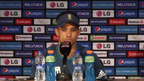 South Africa's JP Duminy pre-New Zealand match PC