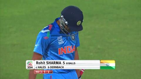 Warm-up: IND v ENG - Rohit Sharma Wicket