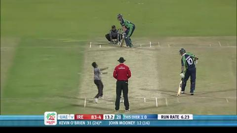 Ireland innings v UAE, 2nd semi-final, ICC WT20Q 2013