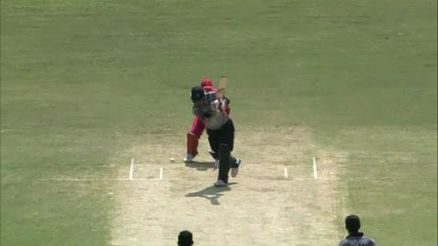 M11:  Zim v UAE  - Swapnil Patil wicket