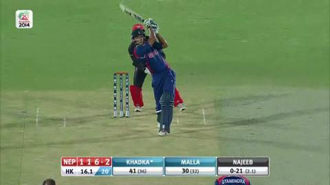 M2: Nep v HK, Nepal Innings Short Highlights