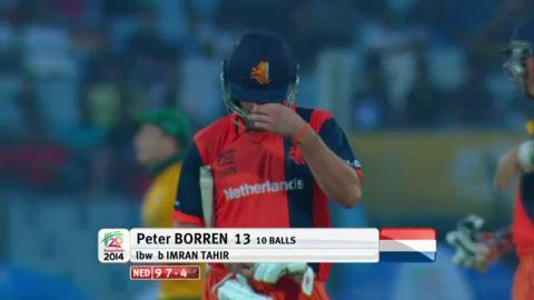 M21: SA v NED - Peter Borren wicket