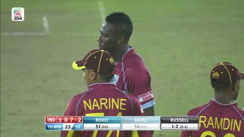 M17: IND v WI - India Wickets