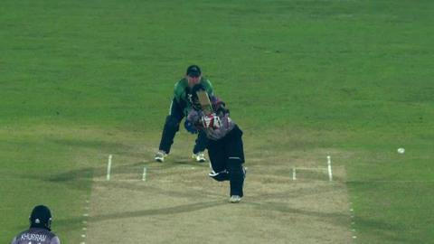 M8: IRE v UAE - Swapnil Patil Wicket