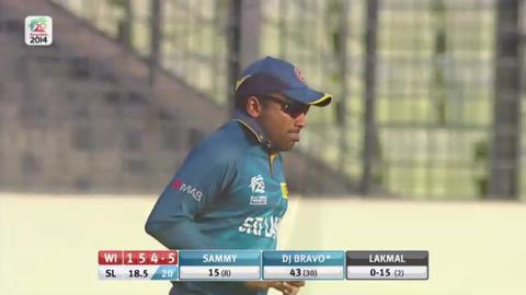 Warm-up: SL v WI - Dwayne Bravo Wicket