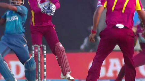 Warm-up: SL v WI - Kusal Perera Wicket