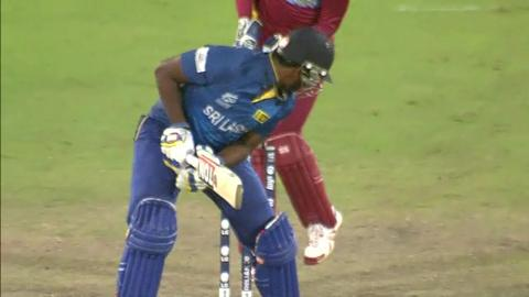 Warm-up: SL v WI - Thisara Perera Wicket