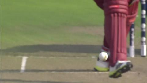 Warm-up: SL v WI - Chris Gayle Wicket