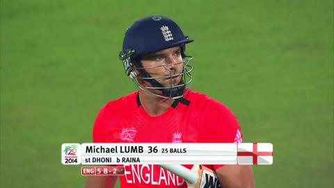 Warm-up: IND v ENG - Michael Lumb Wicket