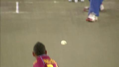 Warm-up: SL v WI - Angelo Mathews Wicket