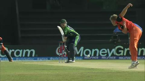M12:  IRE v NED - Paul Stirling Wicket