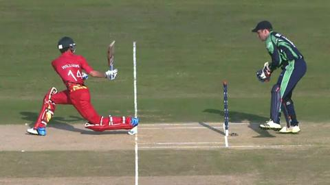 M3: ZIM v IRE - Sean Williams Wicket