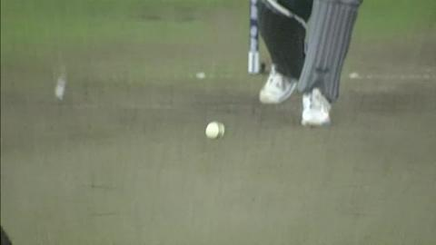 Warm-up: IND v ENG - Ravi Bopara Wicket