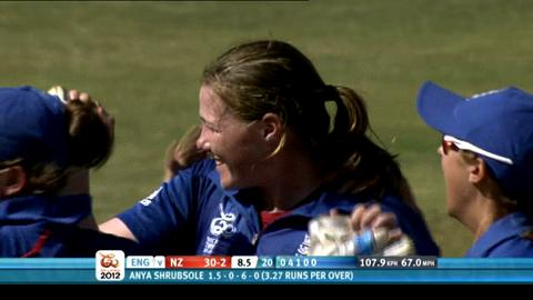 1st women's semi-final - England v New Zealand - New Zealand innings