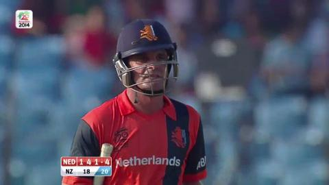 M25:  NZ v Ned - Peter Borren Wicket