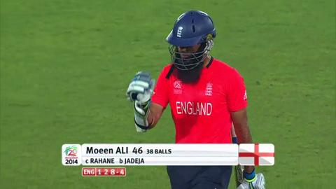 Warm-up: IND v ENG - Moeen Ali Wicket