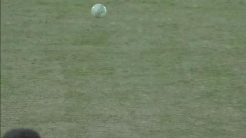 M25:  NZ v Ned - Ross Taylor Wicket