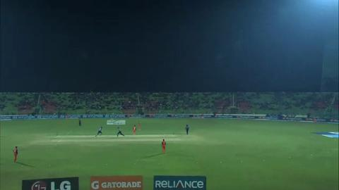 M4: UAE v NED - Amjad Javed wicket