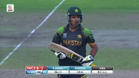 Warm-up: NZ v Pak - Sharjeel Khan wicket