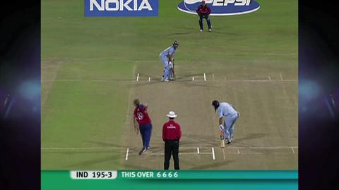 Yuvraj Singh's six sixes. India V England World T20 2007