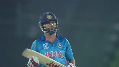 Warm-up: IND v ENG - Shikhar Dhawan Wicket