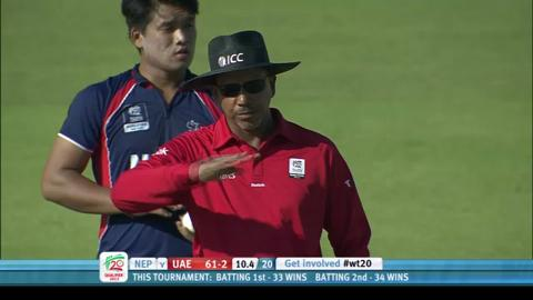 UAE innings v Nepal, 3rd place play-off, ICC WT20Q 2013