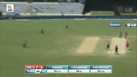 M11: Zim v UAE  - Zimbabwe innings Super Fours