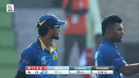 Warm-up: SL v WI - West Indies Innings Wickets