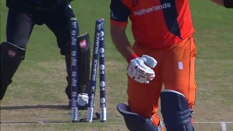 M25:  NZ v Ned - Michael Swart Wicket