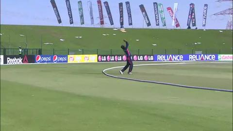 Nepal's Basant Regmi, Man of the Match, v UAE, 3rd place play-off, ICC WT20Q 2013