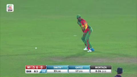 M20: BAN v WI - Dwayne Smith Innings