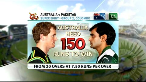 Super Eights - Australia v Pakistan - Match highlights