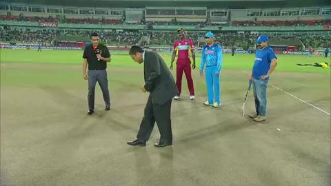 M17: IND v WI - Pitch Toss Report