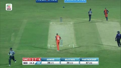 M4: UAE v NED - Innings 1 - Wickets