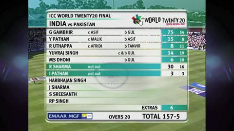 India v Pakistan, WT20 2007 Final
